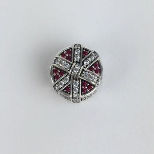 New! Pandora Shimmering Gift Charm, Red & Clear CZ